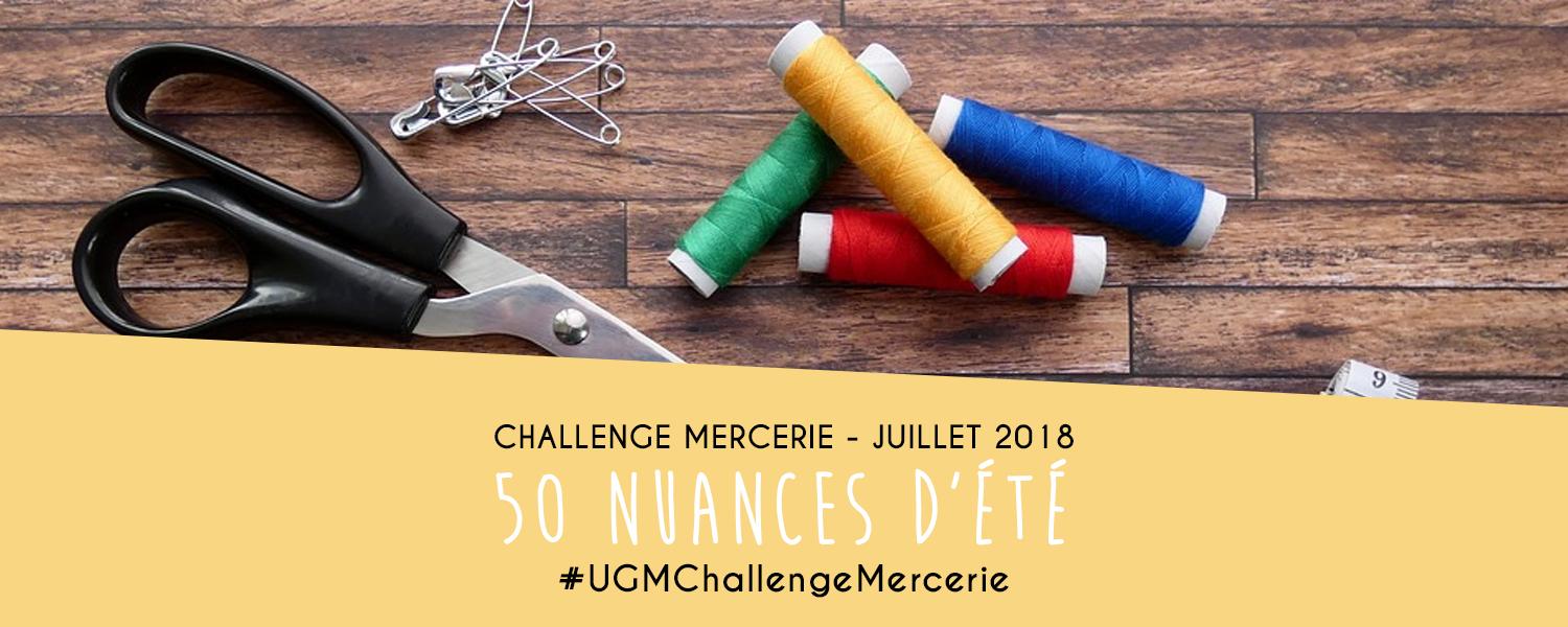 Challenge créatif mercerie : 50 Nuances d'été - juillet 2018