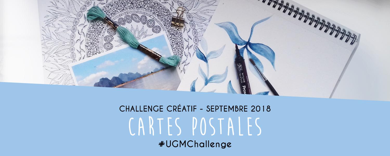 Challenge créatif : cartes postales