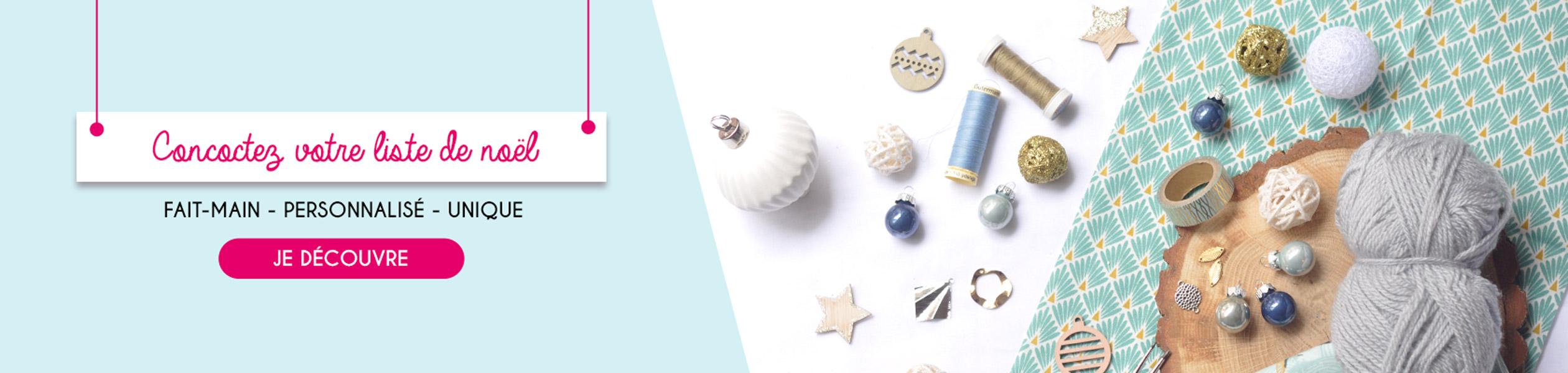 Bannière de Noël, liste idées cadeaux pour noël